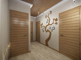 Illüstrasyon ağaç malzemeden bir salon — Stok fotoğraf