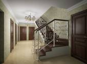 3D illustration of design of the ladder hall — Stock Photo