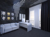 3D illustration of interior design of an office fate of the guit — Stock Photo