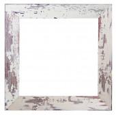 Shabby white frame — Stok fotoğraf