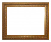 Antique gold frame isolated on a white background. — Stock Photo