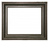 Antique silver frame isolated on a white background. — Stock Photo