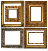 Set of Vintage gold picture frame, isolated with clipping path  — Stok fotoğraf