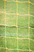 Goal net close up on green background — Foto de Stock