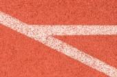 Close up line running track texture — Fotografia Stock