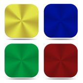 Colorful metal button icons isolated — Stock Photo