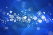 Deep blue with bokeh abstract background — Stock Photo