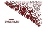 Heart valentine's day background — Stock Photo