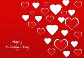 心のバレンタイン日の抽象的な背景 — ストック写真
