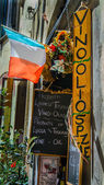 Food banner shop — Stock Photo