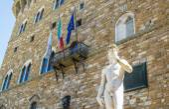 David statue in piazza Signoria in Florence — Stock Photo
