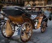 Wooden horse carriage — Stock Photo