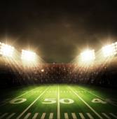 American football stadium — Stock Photo