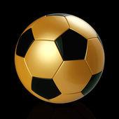 Zlatý fotbalový míč — Stock fotografie