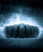 Vehicle tires — Stock Photo