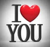 Eu te amo — Foto Stock