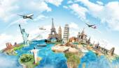 Travel the world monument concept — Stock Photo