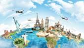 Reizen de wereld monument concept — Stockfoto