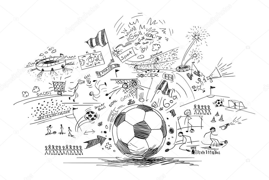 Soccer doodle — Stock Photo © efks #54853719