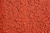 Painted old on metal red background — Stock Photo