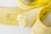 Real peeld banana — Stock Photo