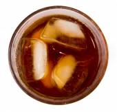 Glass with ice tea — Stock Photo