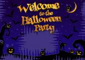 Welcome to the Halloween party background. — Stock Photo