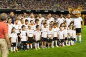 Valencia CF during the Spanish League game against Malaga CF — Stock Photo