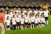 Valencia CF during the Spanish League game against Malaga CF — Foto Stock