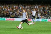 Jose Gaya of Valencia CF in action — Stock Photo