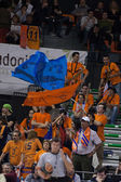 Fans during the game between Valencia Basket against Barcelona — Stok fotoğraf