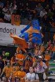 Fans during the game between Valencia Basket against Barcelona — Stock Photo