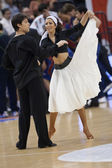 Dancers during the game between Valencia Basket against Barcelona — Stock Photo