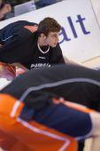 Spanish ACB League Pamesa Valencia against Akasvayu Girona — Foto Stock