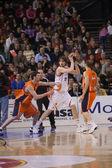 Spanish ACB League Pamesa Valencia against Akasvayu Girona — Stock Photo