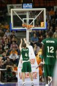 Valencia Basket against Unicaja Malaga — Stock Photo