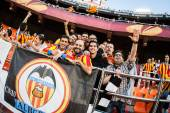 Valencia supporters — Stock Photo