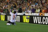Jonas celebrate the second goal during UEFA Europe League semifinals match — Stockfoto