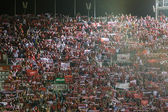 Sevilla supporters celebrate the  classification to the final — Zdjęcie stockowe
