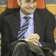 Постер, плакат: Valencia CF coach Valverde during Spanish League match