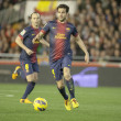 Cesc Fabregas with ball during Spanish League match — Stock Photo #52727463