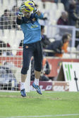 Victor Valdez during Spanish League match — Stock Photo