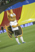 Mascot of Valencia CF during Spanish League match — Stock Photo