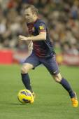 Andres Iniesta during Spanish League match — Stock Photo
