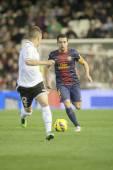 Xavi Hernandez during Spanish League match — Stockfoto