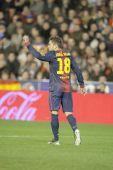 Jordi Alba during Spanish League match — Stockfoto