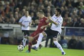 Franck Ribery with the ball — Stock Photo