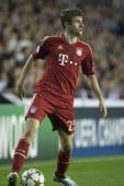 Thomas Muller during UEFA Champions League match — Stock Photo