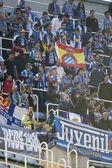 Эспаньол болельщиков во время матча Лиги испанского футбола — Стоковое фото