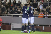 Real Madrid Players celebrating a goal — 图库照片